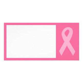 Pink Awareness Ribbon Photo Cards