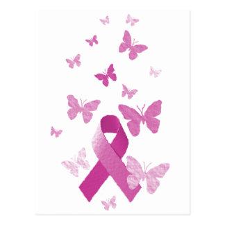 Pink Awareness Ribbon Postcards