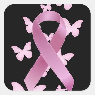 Pink Awareness Ribbon Sticker
