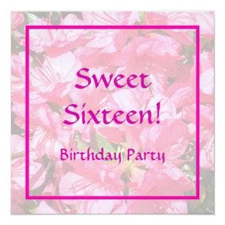 Pink Azalea 13 Cm X 13 Cm Square Invitation Card