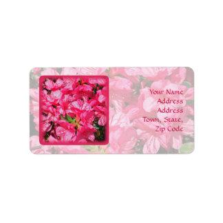 Pink Azalea Address Label