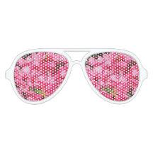 Pink Azalea Aviator Sunglasses