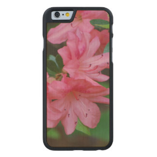 Pink Azalea Carved Maple iPhone 6 Case