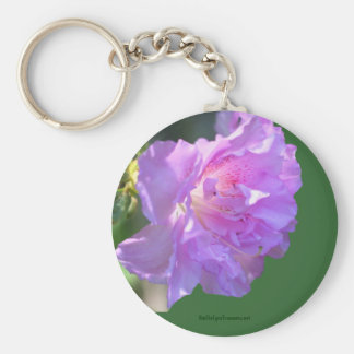 Pink Azalea Flower Photo Keychain
