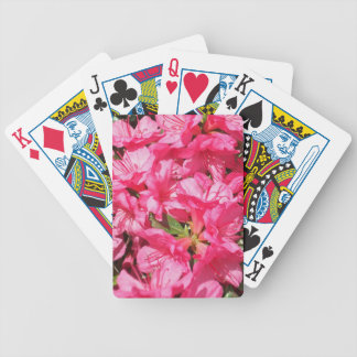 Pink Azalea Bicycle Poker Cards