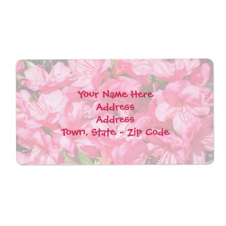 Pink Azalea Shipping Label