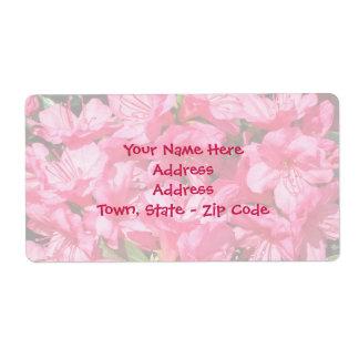 Pink Azalea Shipping Label