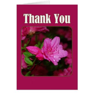 Pink Azalea Thank You Card