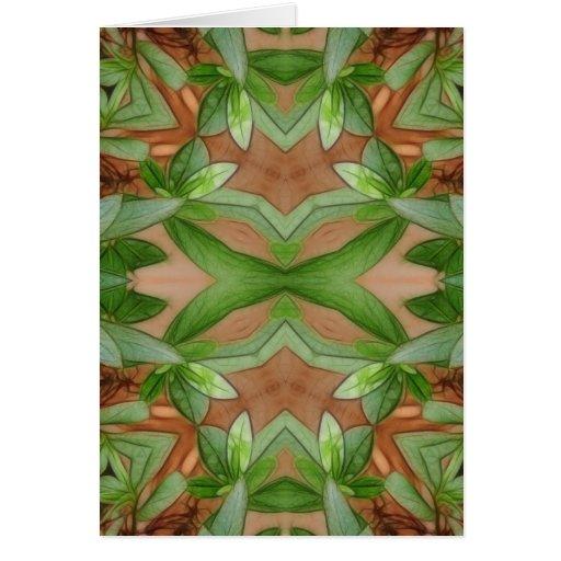 Pink Azaleas 1E kaleidoscope 1 Greeting Card
