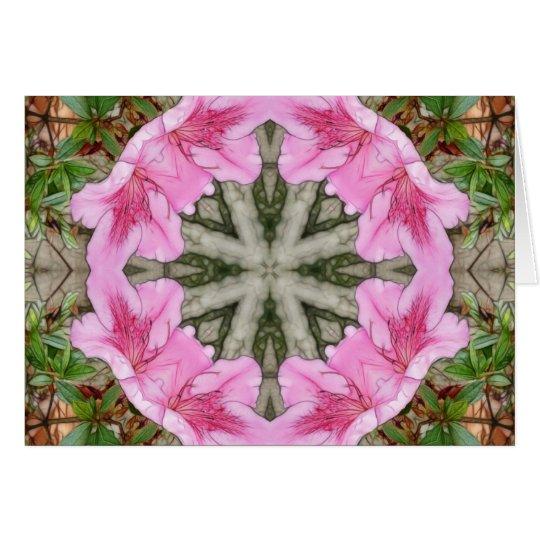 Pink Azaleas 1E kaleidoscope 8 Card