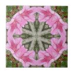 Pink Azaleas 1E kaleidoscope 8 Ceramic Tiles