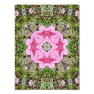 Pink Azaleas 1E kaleidoscope 9 Photo Print