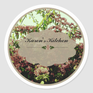 Pink Azaleas labels Round Sticker