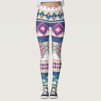 Pink Aztec Blend Women's Leggings