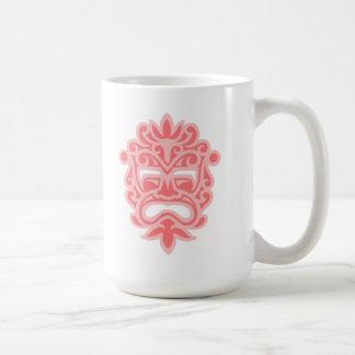Pink Aztec Mask Basic White Mug