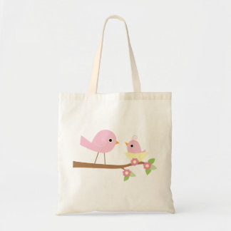 Pink Baby Bird Budget Tote Bag