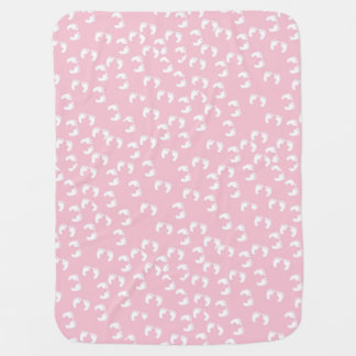 Pink Baby BLanket With Feet Swaddle Blanket