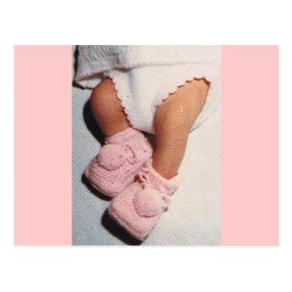 Pink Baby Booties Postcard
