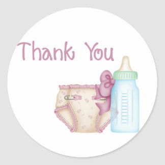 PInk Baby Diaper & Bottle Stickers
