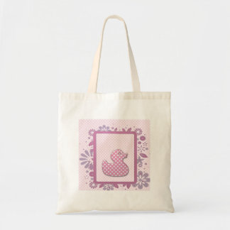 pink baby ducky budget tote bag