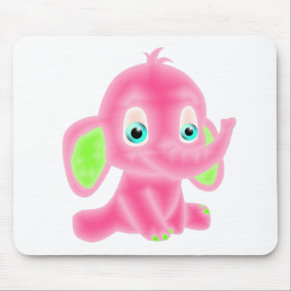 Pink Baby Elephant Mouse Mat
