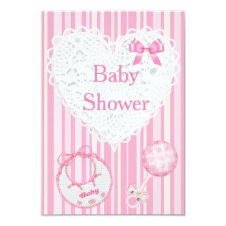 Pink Baby Girl Baby Shower Invitation