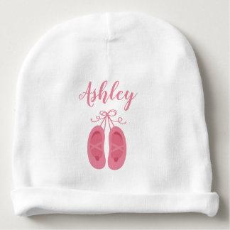 Pink Baby Girl Ballerina Ballet Toe Shoes Dancer Baby Beanie