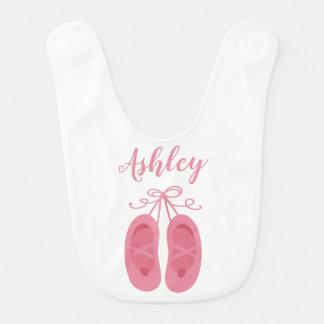 Pink Baby Girl Ballerina Ballet Toe Shoes Dancer Bib