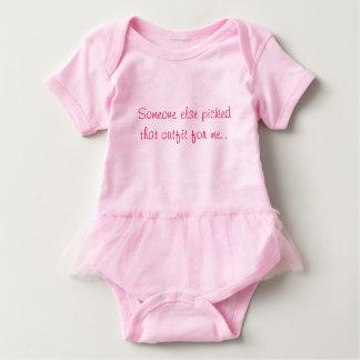 Pink baby girl bodysuit