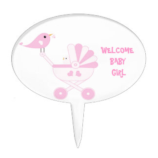Pink Baby Girl Cake Toppers