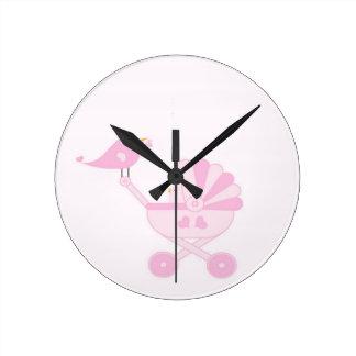 Pink Baby Girl Clocks