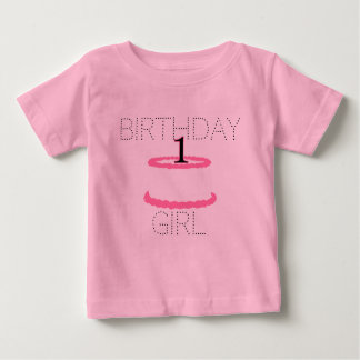 Pink Baby Girl First Birthday Shirt