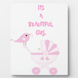 Pink Baby Girl Photo Plaques