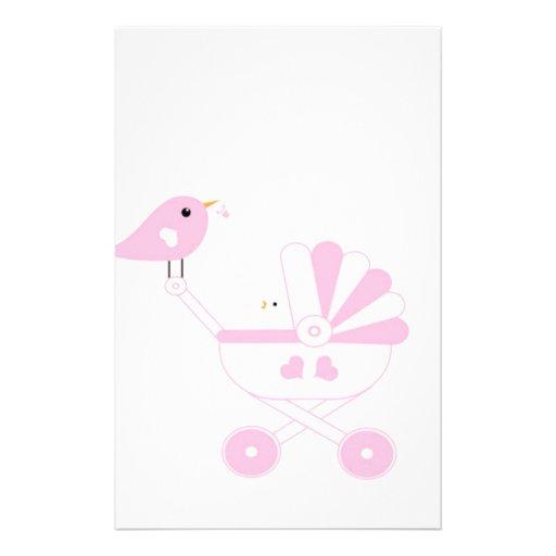 Pink Baby Girl Stationery
