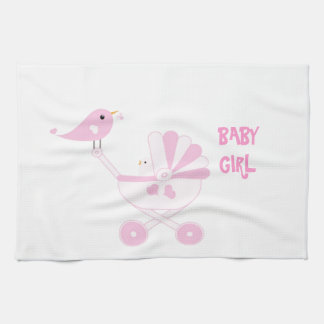 Pink Baby Girl Tea Towel