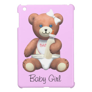 Pink Baby Girl Teddy Bear Cover For The iPad Mini