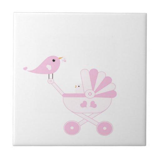 Pink Baby Girl Ceramic Tiles