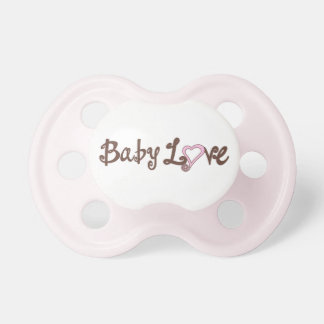 Pink Baby Love Baby Pacifier