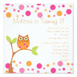 Pink Baby Owl-Hot Pink By Request Custom Invitations