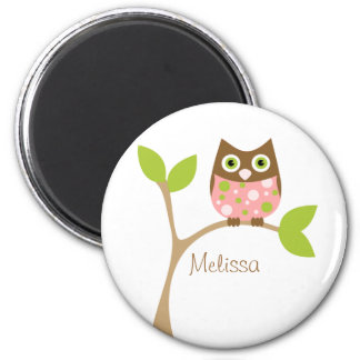 Pink Baby Owl Magnets