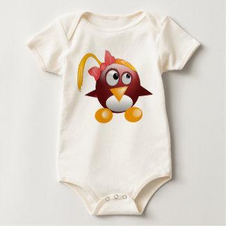 Pink Baby Penguin Baby Bodysuit