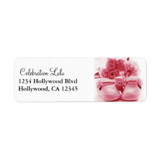 Pink Baby Return Address Label