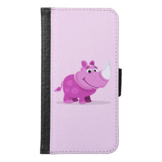 Pink Baby Rhino Samsung Galaxy S6 Wallet Case
