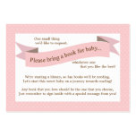 Pink Baby Shower Book Insert Request Card for Girl Pack Of Chubby Business Cards