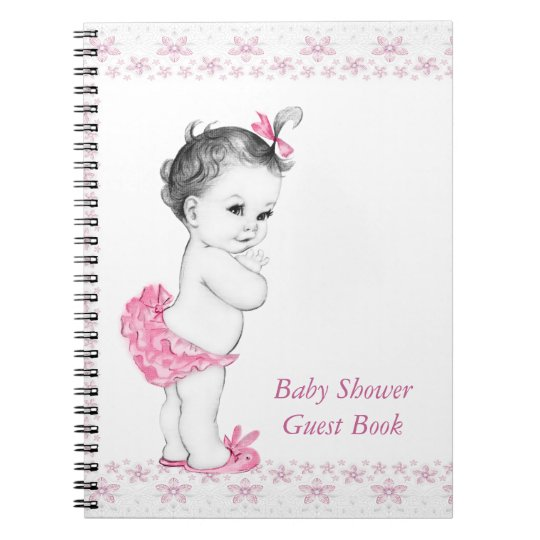 Pink Baby Shower Guest Book