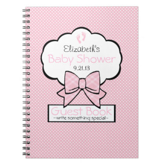 Pink Baby Shower Guest Book- Notebooks