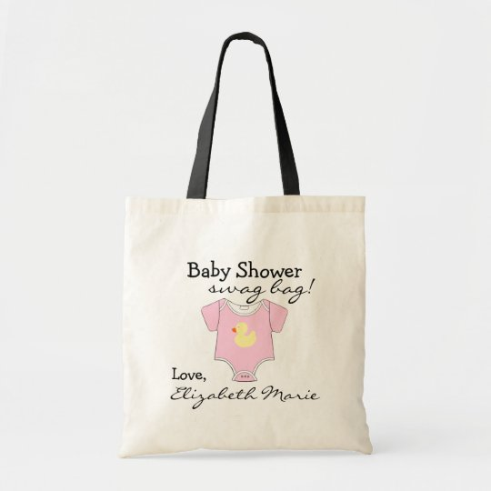 Pink Baby Shower Guest Favour Gift Tote Bag