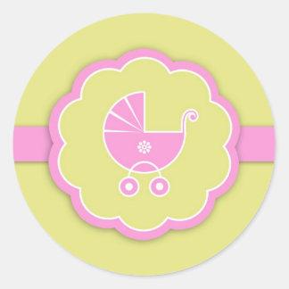Pink Baby Shower / New Baby Girl Sticker