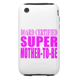 Pink Baby Showers Gifts Super Mother to Be Tough iPhone 3 Covers
