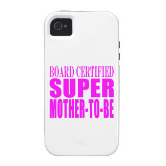Pink Baby Showers Gifts Super Mother to Be Vibe iPhone 4 Cover